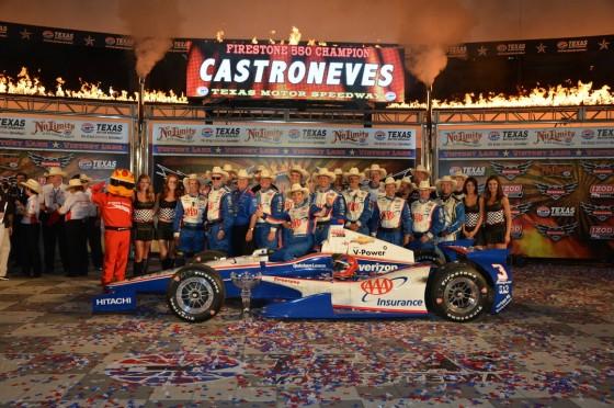 Indycar Helio Castroneves Volvi A Celebrar En Texas
