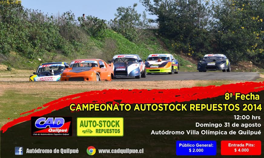 Este domingo se realizará la octava fecha del Campeonato de Automovilismo AutoStock Repuestos 2014 en Quilpué