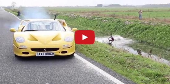 [Video] Haciendo wakeboarding colgado de una Ferrari F50