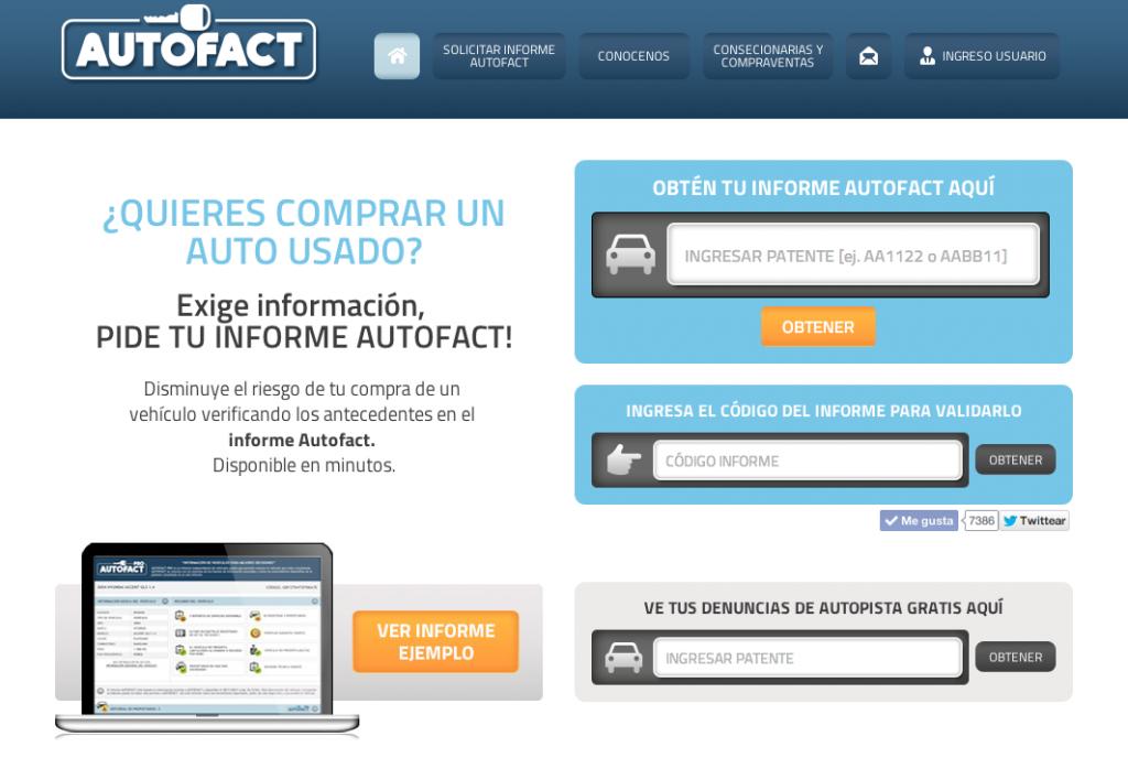 Que tu próximo auto no venga con cachos y partes, Autofact te ayuda