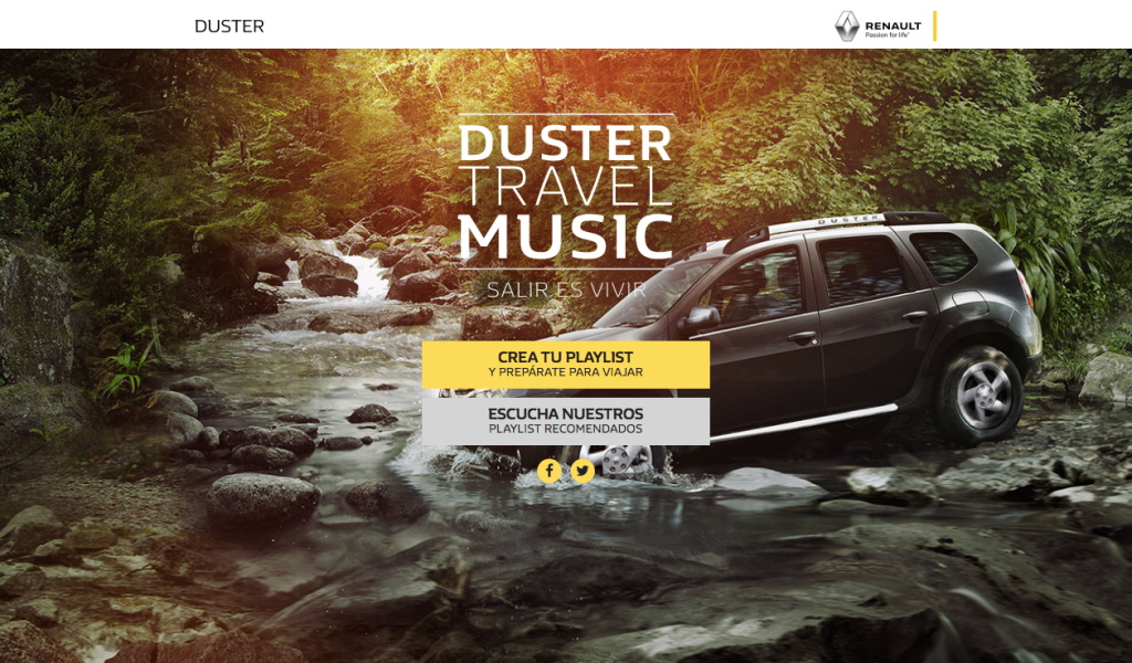 #DusterTravelMusic, uniendo el Renault Duster con Spotify para una nueva experiencia de viaje