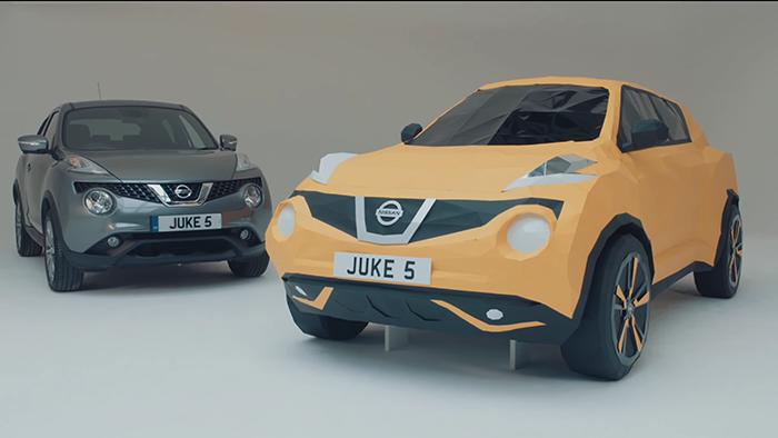 Nissan crea un JUKE de origami a tamaño real para celebrar su quinto aniversario