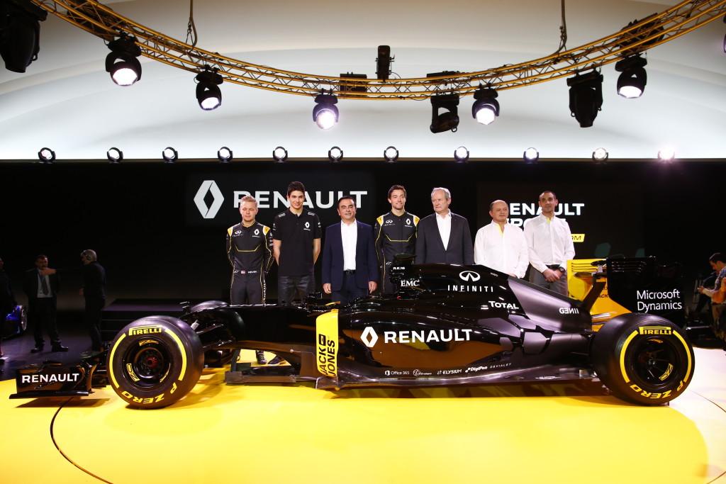 [Fórmula 1] Renault presentó su nuevo monoplaza en París
