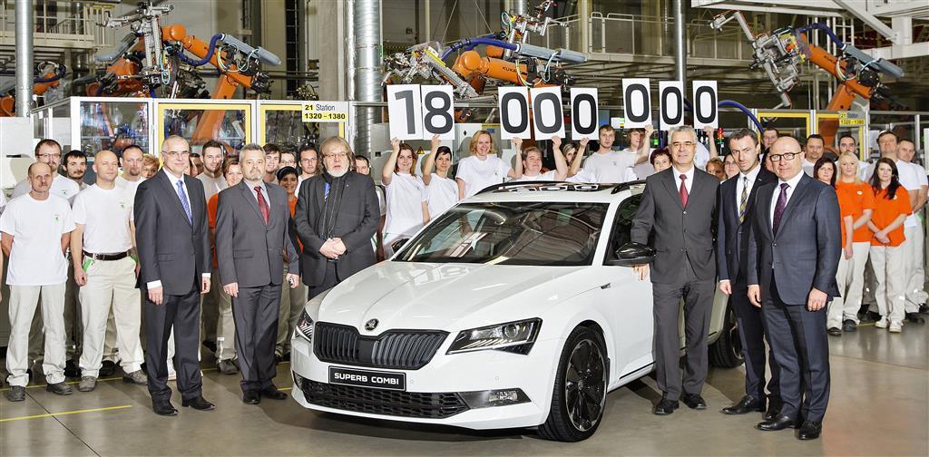 Skoda alcanza la unidad numero 18 millones