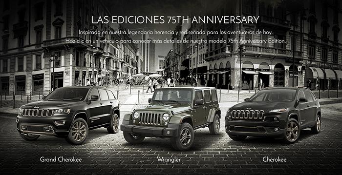Jeep celebra sus 75 con tres ediciones especiales