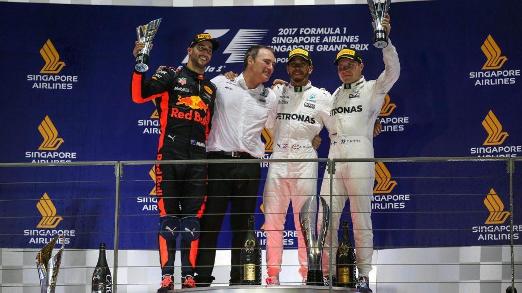 [Fórmula 1] Victoria de Lewis Hamilton en Singapur