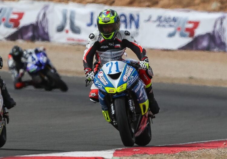 [Chilenos en el exterior/Motociclismo] Martín Scheib clasificó vigésimo en su primera carrera del Campeonato Mundial de Supersport